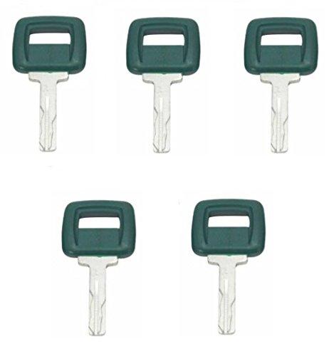 5 Keys Laser Cut Ignition key 17225331 11039228 for Volvo Clark-Michigan Volvo Articulated Hauler Models A20C A25C A30C