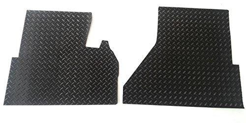WeatherFit-Floor-Mats-FRTCEN2B-2-Pc-Front-Black-Diamond-Plate-Rubber-Floor-Mats-for-Freightliner-Century