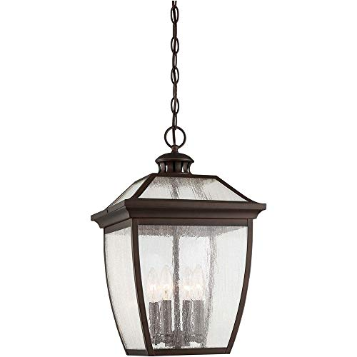Lighting Medium Pendant Outdoor (Minka Lavery Outdoor Pendant Lighting 72525-246 Sunnybrook, 4-Light 240 Watts, Alder Bronze)