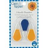 Dritz Plastic Needle Threaders, 3-Pack, Blue/Yellow