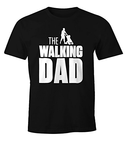 The Walking Dad Shirt Herren T-Shirt Fun Moonworks® schwarz L
