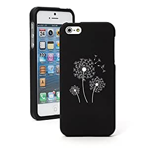 Apple iPhone 5c Snap On 2 Piece Rubber Hard Case Cover Dandelions (Black)