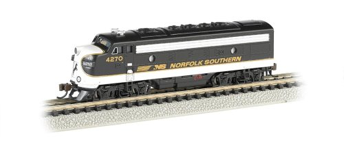 EMD F7-A Diesel Locomotive DCC Equipped Norfolk Southern Train Car, Black/Gray, N Scale ()