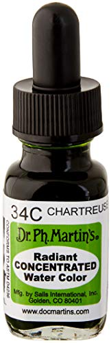Dr. Ph. Martin's Radiant Concentrated Water Color, 0.5 oz, Chartreuse (34C)