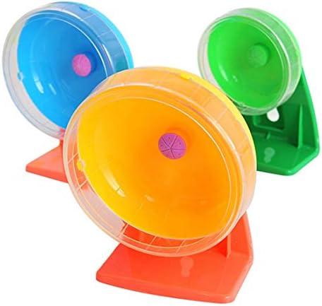 ペットのおもちゃ 小さなペットのおもちゃハムスター·スポーツ·ミュート·ランニング·ホイール、ランダムカラーデリバリー、M、サイズ:直径14cm