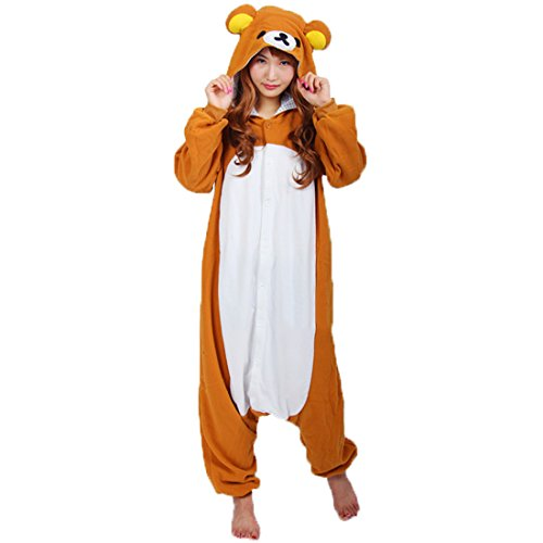 Ailimis Cartoon Unisex Adult Animals Cosplay Costumes Onesie Rilakkuma -