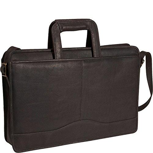 David King Leather Single Gusset Drop Handle Portfolio in (Gusset Wheeled Portfolio Computer Case)