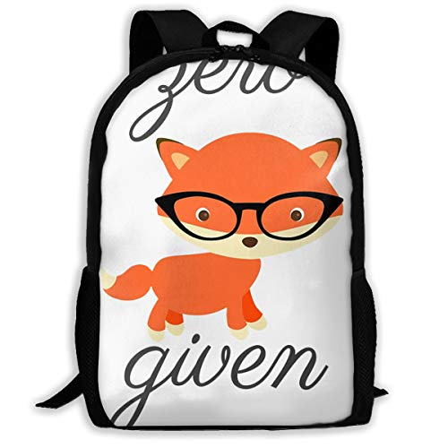 Zero Fox Given.png Travel Hiking Lightweight Mens Womens Unisex Computer Gaming Laptop Backpack,Boys Girls School Book Bag