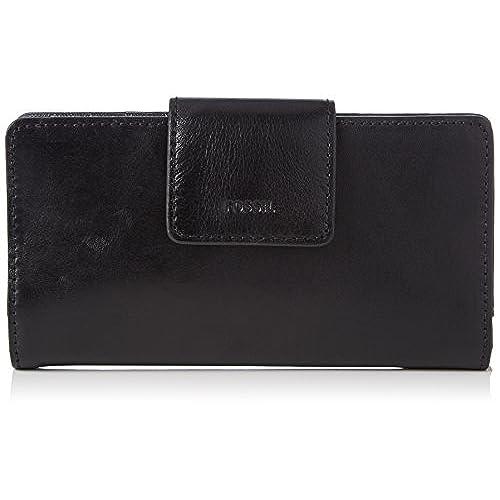 Damen Reißverschluss Portemonnaie weiche Geldbörse mit gesticktem Ethno Muster