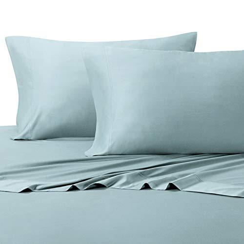 [해외]편안한 푸른 색의 부드러운 여왕 대나무 시트; 100% 비스코 스 온도 조절 패브릭 / Silky Soft Queen Bamboo Sheets in Relaxing Blue Color; 100% Viscose Temperature Regulated Fabric