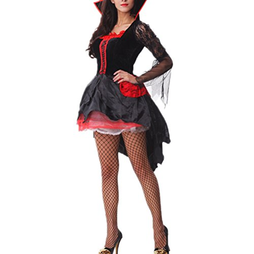 [Nanxson(TM) Women's Sorceress Vampire Costume Party Dress Adult EXW0009 (one size)] (Bunny Dress Tux Tails Adult Costumes)