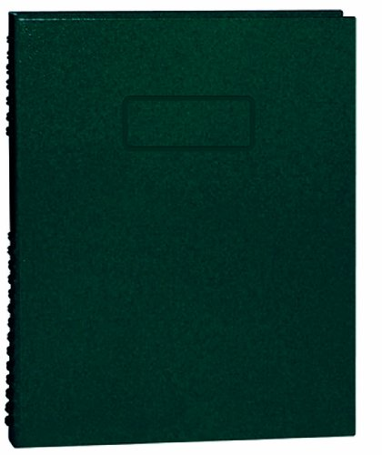 Notepro Notebook - BLUELINE NotePro Composition Notebook, Green, 9.25 x 7.25