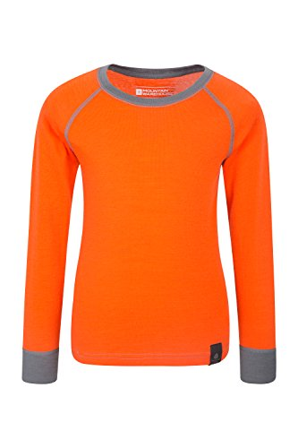 Mountain Warehouse Merino Kids Top - Breathable Childrens Tee Orange 9-10 Years ()