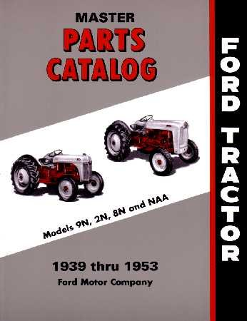 1939 1950 1951 1952 1953 FORD TRACTOR Parts Book (Hydraulic Tractor Seat)