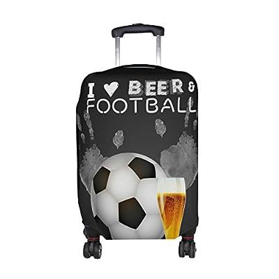 1590081910a3 DEYYA Sports Bar Football And Beer Spandex Travel Luggage Cover ...