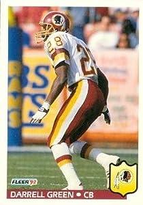 Darrell Green Football Card (Washington Redskins) 1992 Fleer #419