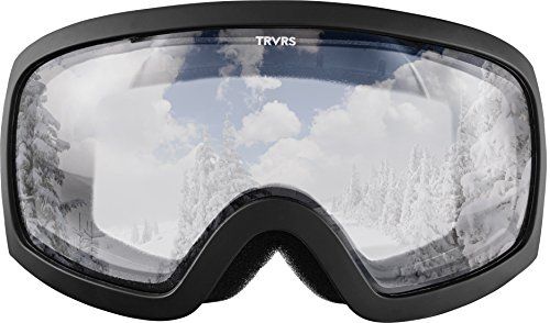 Traverse Varia Ski, Snowboard, and Snowmobile Goggles, Obsidian with Crystal Clear - Clear Crystal Lenses