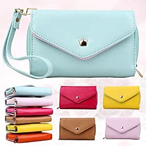 ZCL Women'S Multi Propose Envelope PU Wallet Purse for iPhone And Samsung(Assorted Color)