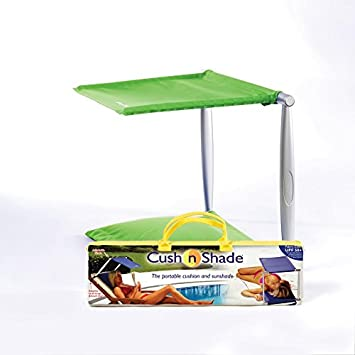 Nice Roll And Fold Cush N Shade Portable Sunshade And Cushion New Model Green