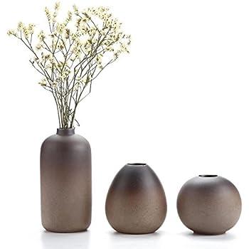 "Rachel's choice 3.25""Ancient Style Ceramic Vase Sets Home decoration Ideal Gift For Wedding Hydroponic Plant Vase Flower pots Set of 3"
