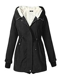 CeRui Women Casual Outdoor Coat Hoodie Jacket Trench Parkas
