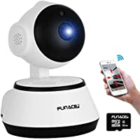 WiFi IP Network Wireless Camera +32GB MicroSD card (HD Megapixel/Night Vision/2 Way Audio/Pan&Tilt) Remote Home Monitoring P2P Video Security Surveillance Motion Activated 720p Cam IOS Android PC APP