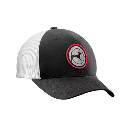 Flying Fisherman Early Bird Fitted Trucker, Black/White, Large/X-Large