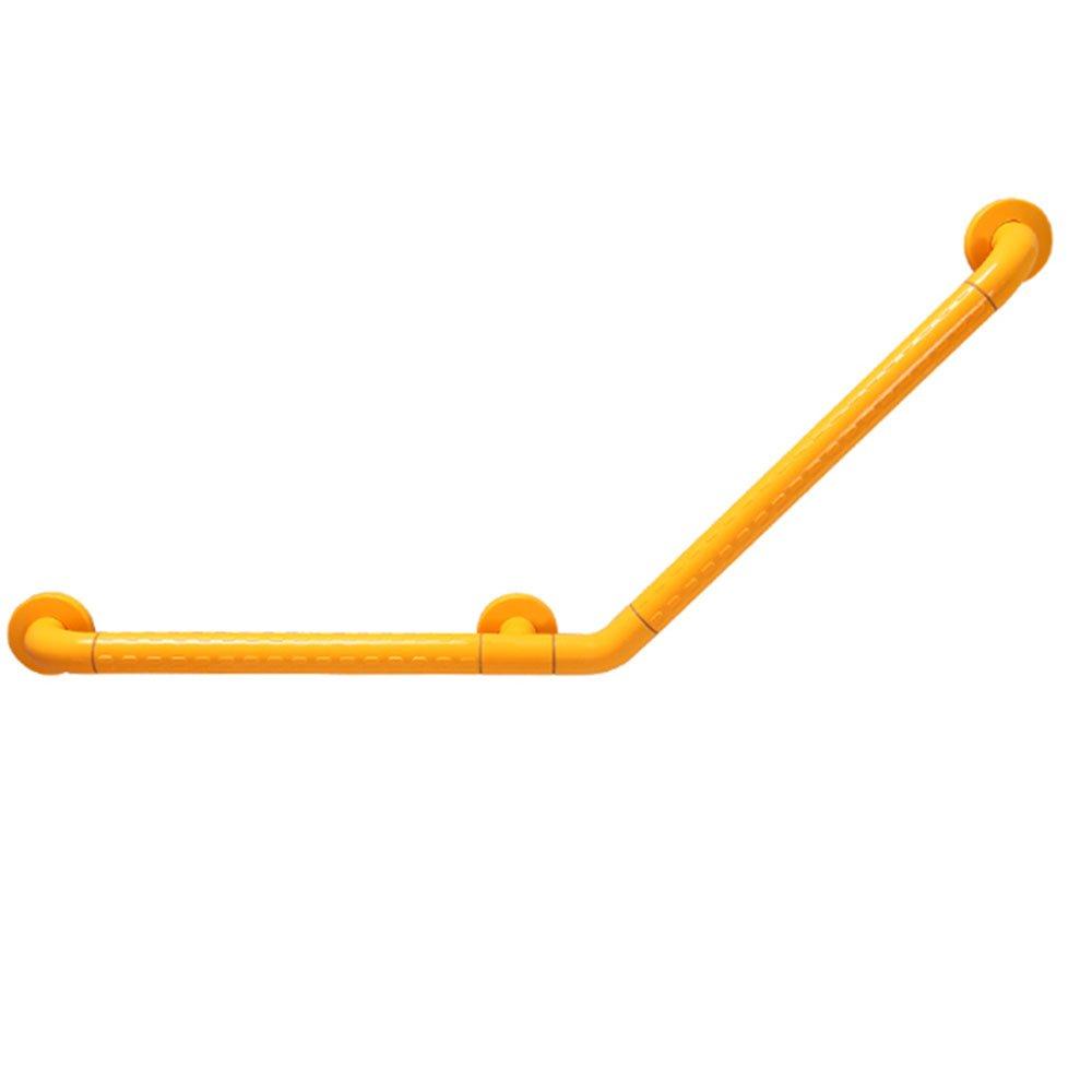 ZZHF fushou 手すりステンレススチール滑り止め手すり高齢者浴室安全手すり135度タイプ (色 : イエロー いえろ゜, サイズ さいず : 40*40cm) B07F18FGCB 40*40cm|イエロー いえろ゜ イエロー いえろ゜ 40*40cm