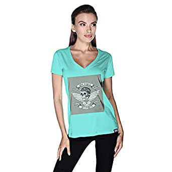 Creo Give Respect T-Shirt For Women - L, Green