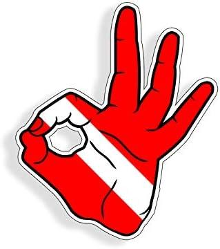 "Hand Gesture car bumper sticker decal 5/"" x 4/"""