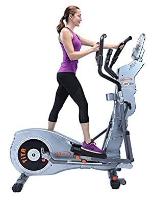 """GOELLIPTICAL T-300MX Motorized VST 18""""-22"""" Elliptical Exercise Cross Trainer Machine for Cardio Fitness Strength Conditioning Workout at Home or Gym"""