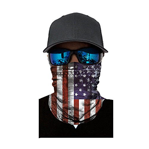 Flag Face Mask Shield Protective Balaclava Bandana Tube Neck Warmer Paintball, Ski, Dust, Costume, Under Motorcycle Helmet (D)