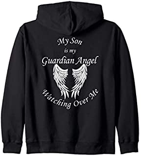 Son Guardian Angel  - Memorial Gift For Loss of Son Zip Hoodie T-shirt | Size S - 5XL