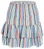 Jack Women's Treatment Printed Stripe Smocked Skirt