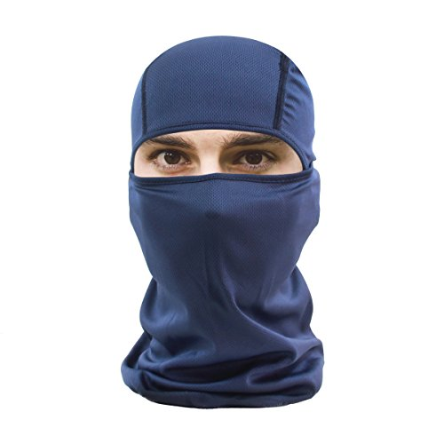 Army Green Face Mask Balaclava, HikeValley Adjustable Motorcycle Windproof UV Protection Breathable Unisex Hoods (Dark Blue)