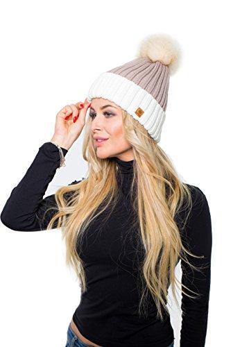 Pompón Invierno Hombre Gorro De Esquí Ltd Romens Beanie de Black Burgundy Mujer Snowboard para Estilo y 0qI8wg