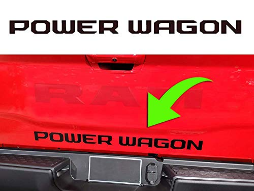 """2019 2018 """"POWER WAGON"""" Trunk rear hatch decal sticker compatible with Dodge Ram 1500 2500 3500 Cummins (MULTI-COLOR)"""