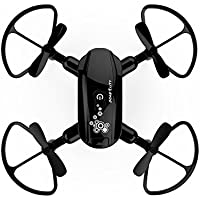 Owill Mini Foldable With Wifi FPV 0.3M HD Camera 2.4G 6-Axis RC Quadcopter Drone, About 7mins Flying Time (Black)