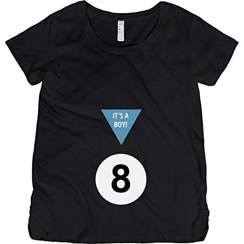 Magic 8 Ball Boy Costume: Maternity Cotton T-Shirt Black
