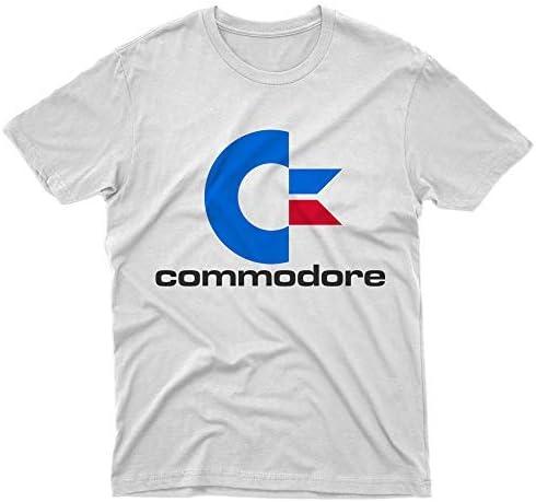 fm10 – Camiseta Commodore 64 con Logotipo para Ordenador Games Retro Vintage Gift Videogames Bianco X-Large: Amazon.es: Ropa y accesorios