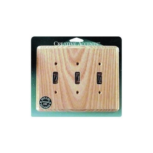 Jackson Deerfield 403U Ash Triple Toggle Wall Plate