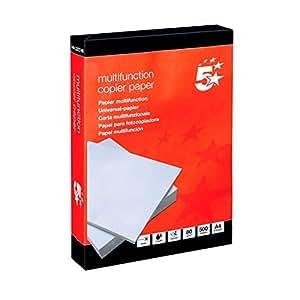 5 Star 413230 - Pack de 500 hojas de papel para fotocopiadora A4, 80 gr