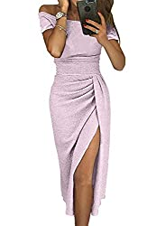 A-light Purple_11 Off The Shoulder Sequin Long Maxi Gown with Slit