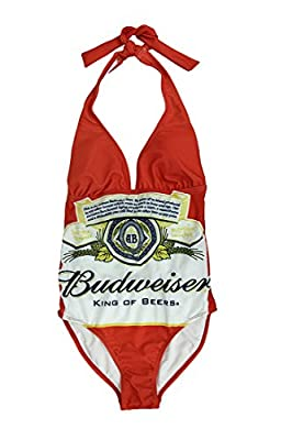Budweiser Label One Piece Tie Back Swimsuit