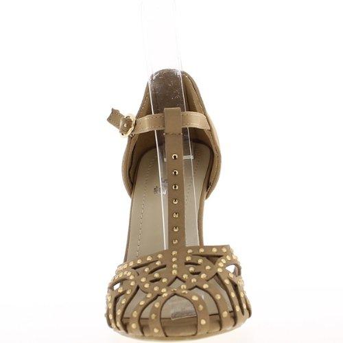 Offene Pumps Taupe 10cm heel