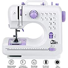 AGM Portable Sewing Machine, Uten 12 Stitches 2 Speed Heavy Duty Sew Machine, Handheld Quilting Embroidery Overlock Quick Sewing Machine