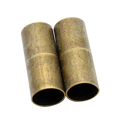 AaaZee 10pcs 8mm Inner Hole Antique Bronze Cylinder Magnetic Clasp, Jewelry Making for Bracelet Opening