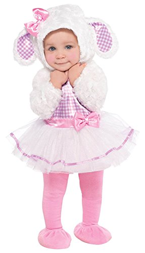 AMSCAN Baby Little Lamb Halloween Costume for Infants, 6-12 Months, with Included -