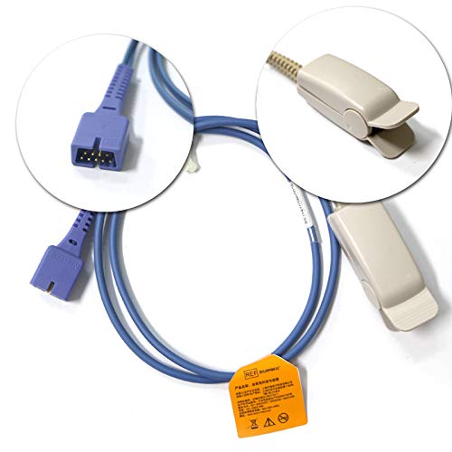 - Nellcor OxiMax DS 100A Adult Finger Clip Spo2 Probe Sensor 3ft 9Pin Berry