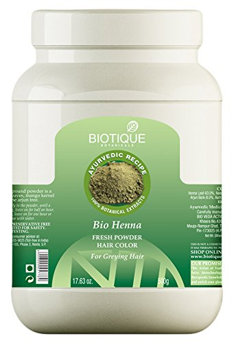 Buy Biotique Henna Hair Colour For Dark Hair 500g Online At Low